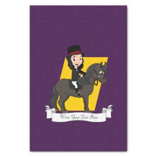 Papel De Seda Desenhos animados do cavaleiro do cavalo do