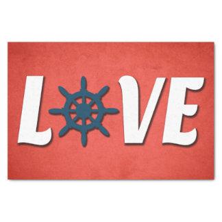 Papel De Seda Design náutico do amor