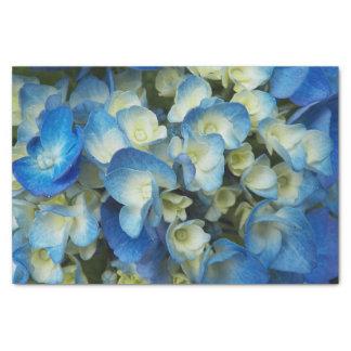 Papel De Seda Flores azuis florais