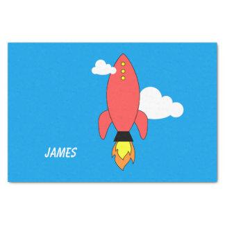 Papel De Seda Foguete vermelho dos desenhos animados