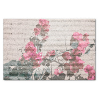 Papel De Seda Foto floral do estilo do chique