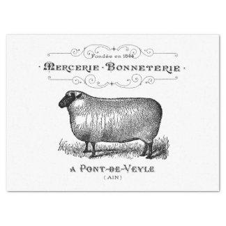 Papel De Seda Gráfico francês dos carneiros do vintage