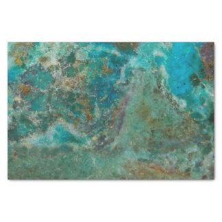 Papel De Seda Imagem de pedra azul de Chrysocolla