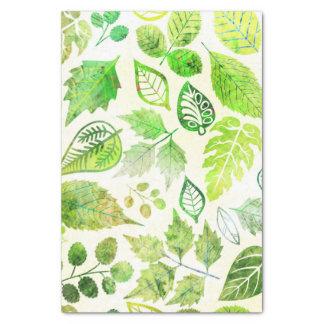 Papel De Seda Impressão fabuloso das folhas da aguarela