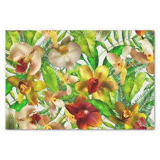 Papel De Seda Meu jardim de flores exótico e tropical da