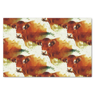Papel De Seda Pintura vermelha da vaca