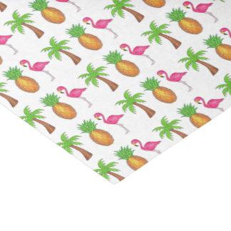 Papel De Seda Tecido tropical do abacaxi da palmeira do verde do