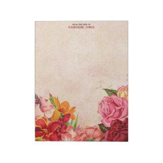 Papel floral | do vintage do vintage elegante | caderno de notas