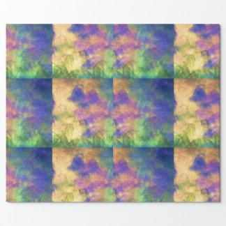 Papel roxo/do verde/azul/ouro envolvimento papel para embrulho