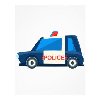Papel Timbrado A polícia preto e branco brinca o ícone bonito do