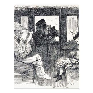 Papel Timbrado Alice no trem