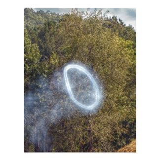 Papel Timbrado Anel do fumo do canhão