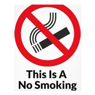 Papel Timbrado Área não fumadores