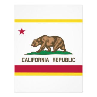 Papel Timbrado Bandeira de Califórnia