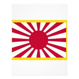 Papel Timbrado Bandeira de Sun de ascensão de Japão