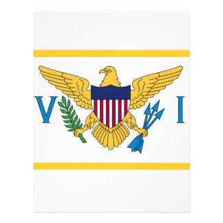 Papel Timbrado Bandeira de United States Virgin Islands