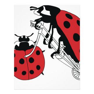 Papel Timbrado Bicicleta da equitação do joaninha com roda do