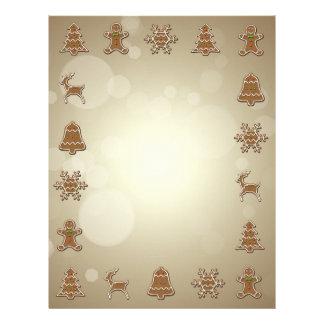 Papel Timbrado Biscoitos do pão-de-espécie - cabeçalho do Natal