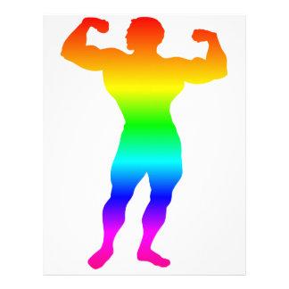 Papel Timbrado Bodybuilder do arco-íris