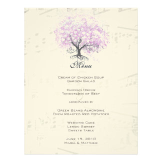 Papel Timbrado Casamento do pássaro do vintage da árvore da