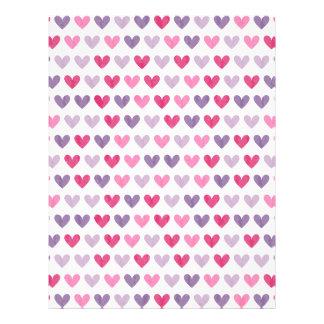 Papel Timbrado Corações bonitos coloridos III