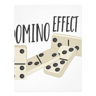 Papel Timbrado Efeito de dominó