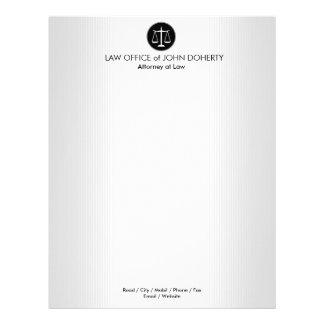 Papel Timbrado Escalas do escritório de advogados de justiça |