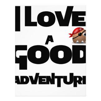 Papel Timbrado Eu amo uma boa aventura