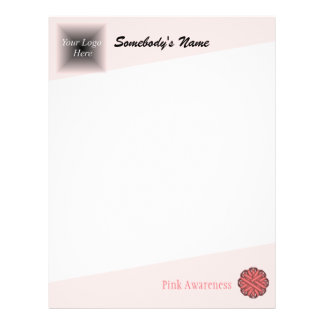 Papel Timbrado Fita cor-de-rosa da flor