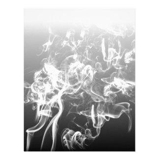 Papel Timbrado forma do teste padrão da arte do fumo preto e