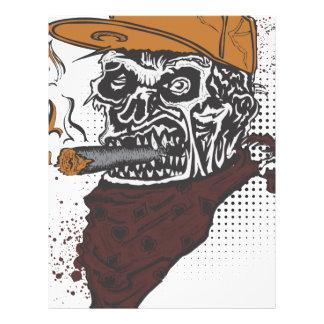 Papel Timbrado Fumo do crânio