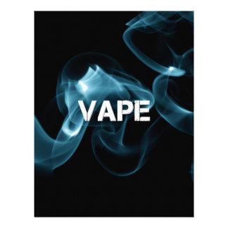 Papel Timbrado Fumo Vape de turquesa sobre
