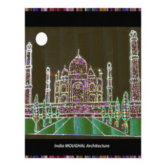 Papel Timbrado Herança da arquitetura de TAJ Mahal Moghul que