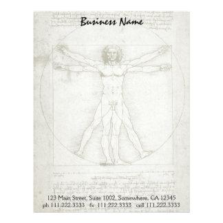 Papel Timbrado Homem de Vitruvian por Leonardo da Vinci