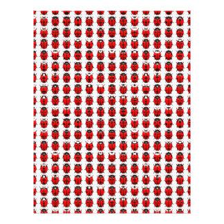 Papel Timbrado Joaninhas pequenos vermelhos