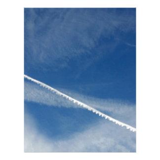 Papel Timbrado laço branco no céu