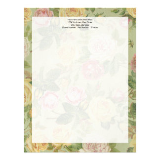 Papel Timbrado Mulheres florais resistidas país do vintage feitas