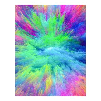 Papel Timbrado Multi colorido