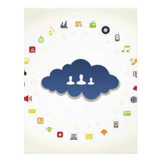 Papel Timbrado Negócio uma nuvem