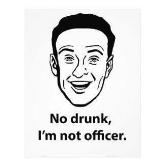 Papel Timbrado Nenhum bebado, eu não sou oficial