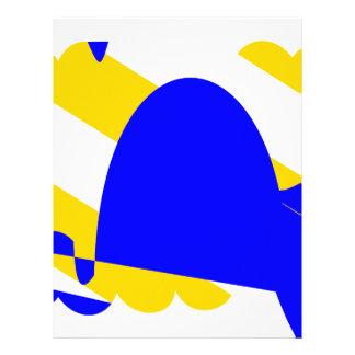 Papel Timbrado Nivernais-província-Bandeira