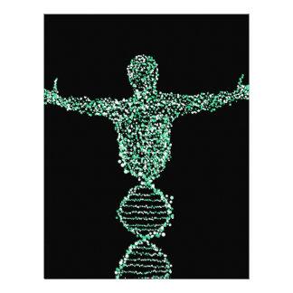 Papel Timbrado O homem do ADN da biologia