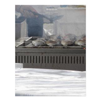 Papel Timbrado Peixes do churrasco fora