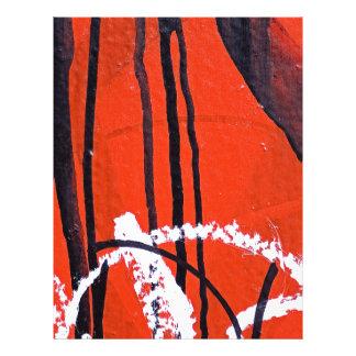Papel Timbrado Sólido antigo abstrato Shin da arte da forma do
