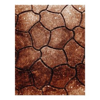Papel Timbrado sucata marrom oxidada S da antiguidade do abstrato