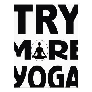 Papel Timbrado Tente mais ioga