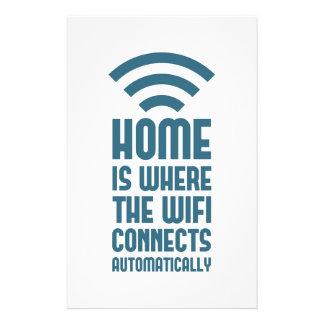 Papelaria A casa é o lugar onde WIFI conecta automaticamente