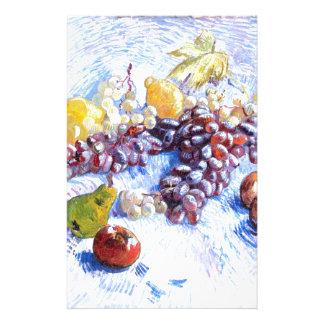 Papelaria Ainda vida com maçãs, peras, uvas - Van Gogh