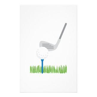 Papelaria Bola de golfe & ferro