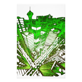 Papelaria city em 3 point version perspective special green
